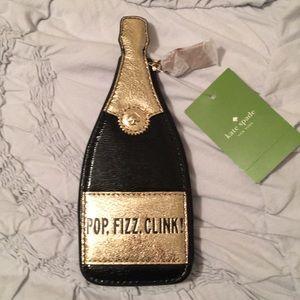 Kate Spade POP Fizz Clink champagne coin purse